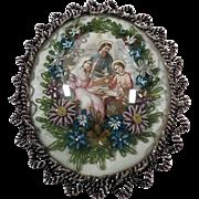 Superb and Rare Reliquary Holy Family Glass Beads