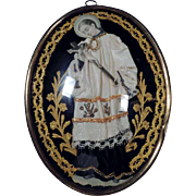 19th Century German  Devotional Object Reliquary St John