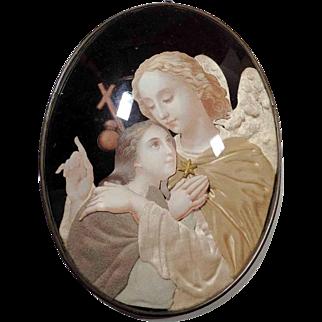 Touching Reliquary Guardian Angel ca. 1900