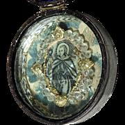 19th Century Reliquary Saint John w. Ciborium