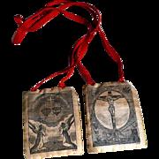 Rare Devotional Object Fivefold Scapular