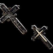 Baroque Treasure Silver Cross