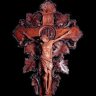 Superb German Crucifix Floral Ornaments ca. 1900