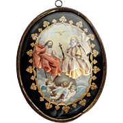 19th Century German Devotional Object Reliquary Trinity