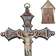 Micro Mosaic Cross Crucifix  with Show Display