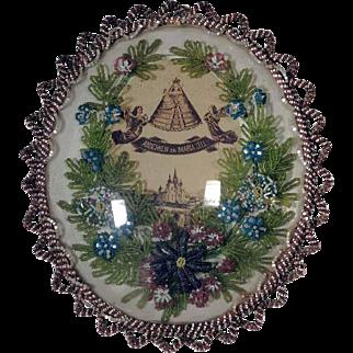 Beautiful Beaded Reliquary Virgin Mary Maria Zell