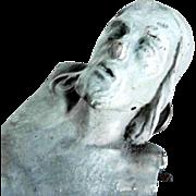19th Century German Folk Art Carving Jesus Crucifix Fragment