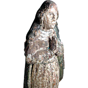 Very Old  Hand Carved Immaculate Virgin
