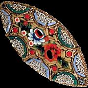 Micro Mosaic Brooch Summer Flowers