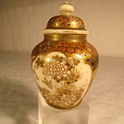 Satsuma Vase with Lid  Ginger Jar ca. 1900