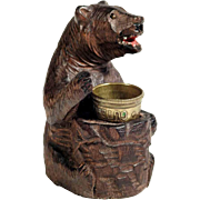 Hand Carved Bear Thimble Holder Black Forest 1900/20