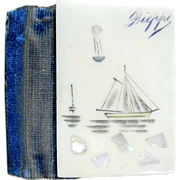 Lovely Needle Case French Ivory Mother of Pearl Inlays