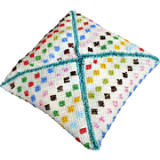 Pin Cushion Geometrical Patterns Bead Work