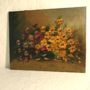 Still Life Aster Artist Signed ca. 1920
