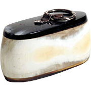 Interesting Horn Snuff Box with Lid