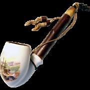 Old Pipe Porcelain Bowl Royal Stag
