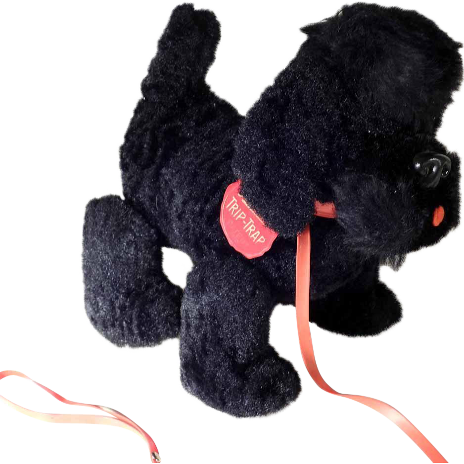Adorable Pull Toy  Schuco Trip-Trap Poodle  1945/49