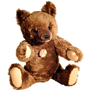 Large Steiff Teddy Chocolate Brown Bear #0206/41