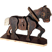 Large Wooden Horse Handcrafted Toy