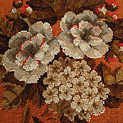 Beautiful Pillow Top Handmade Embroidery Silk and Glass Beads