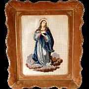Beadwork Praying Virgin 1. Half of the 19th Century