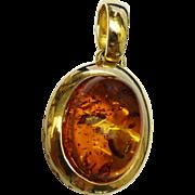 Beautiful Amber Gold Pendant Fine