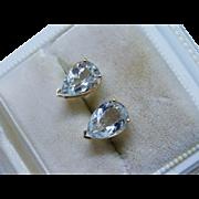 Classic Aquamarine 14K Yellow Gold Earrings Fine
