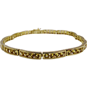 Pretty Citrine 9K Yellow Gold Line Bracelet Fine