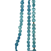 Gorgeous Genuine Aquamarine Bead Triple Strand Necklace 14K Gold Clasp Fine