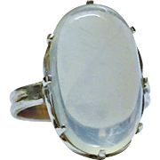 Stunning Moonstone Cabochon Sterling Silver Ring Vintage