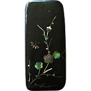 Snuff Box Papier Mache MOP Victorian Aesthetic