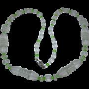 Fabulous Art Deco Camphor Glass Bead Necklace