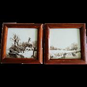 Vintage Hand Painted Tile Framed Unique