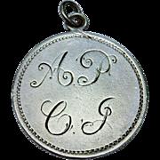 Victorian Sterling Silver Love Token Charm Pendant Shilling 1872