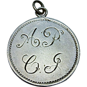 Victorian Sterling Silver Love Token Charm Pendant Shilling 1872