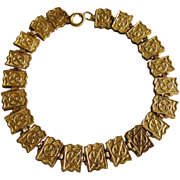 Victorian Rolled Gold Book Chain Bracelet Antique