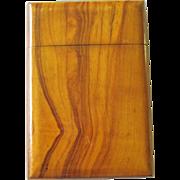 SALE Vintage Wood Card Case Visiting Card Case