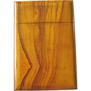 Vintage Wood Card Case Visiting Card Case