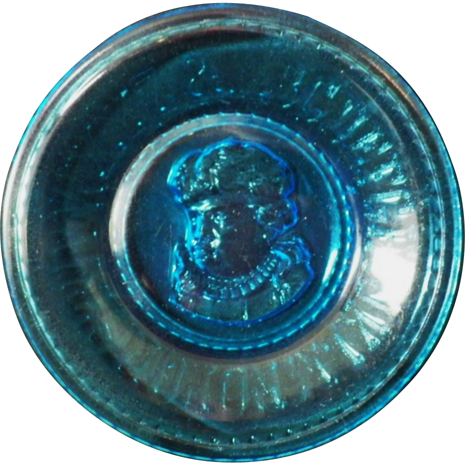 Vintage Blue Glass ABC Plate
