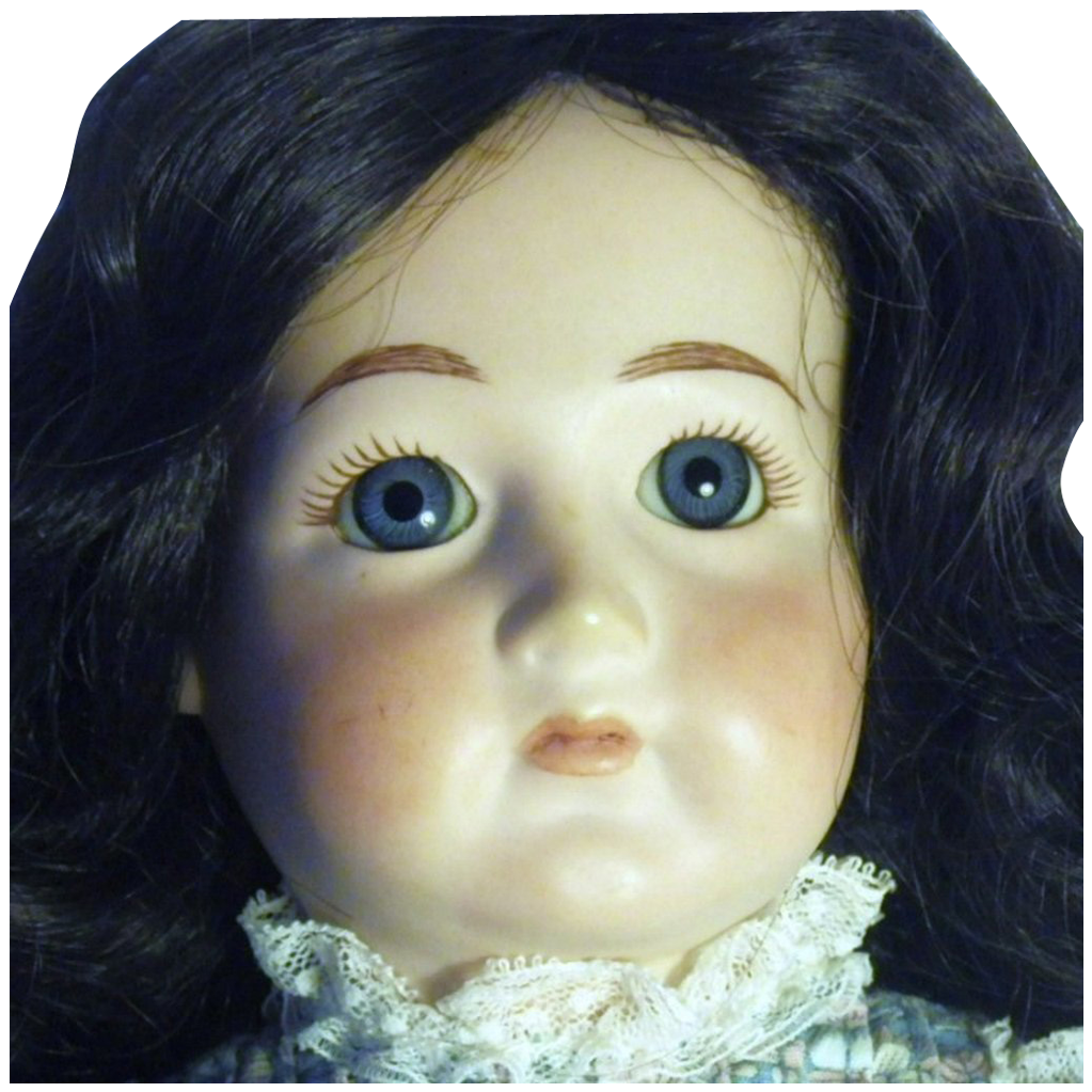 Vintage Bisque and Cloth Artisan Signed Doll