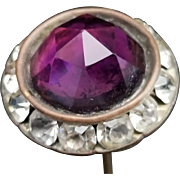 Vintage Amethyst Glass Hat Pin