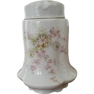 Rare Antique Handpainted Rosenthal Porcelain Tea Caddy