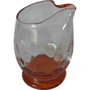 Rare Vintage Morgantown Glass Syrup Pitcher