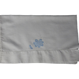 Vintage Hand Appliqued Baby or Doll Pillow Case