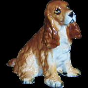 Vintage Porcelain Cocker Spaniel Figurine