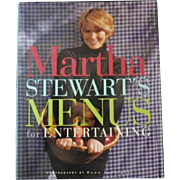 "Vintage Cookbook - ""Martha Stewart's Menus for Entertaining"