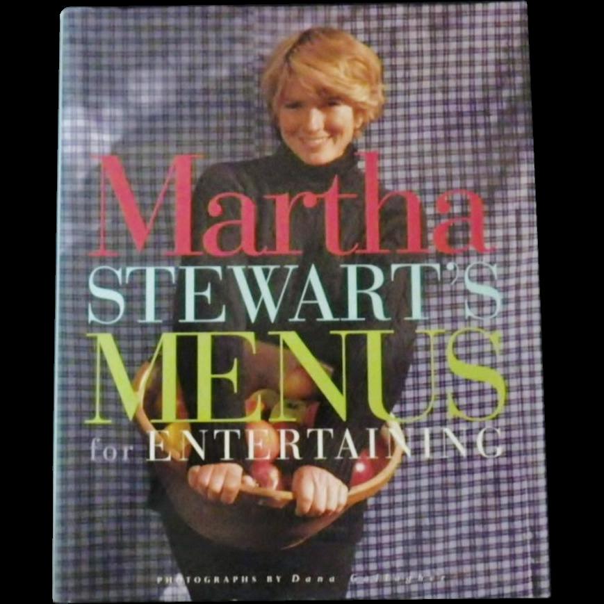 """Vintage Cookbook - """"Martha Stewart's Menus for Entertaining"""