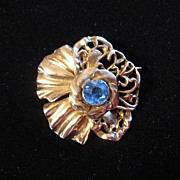 Vintage Rare Signed Hobe Sterling Silver Pansy Flower Brooch