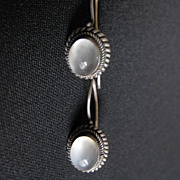 Vintage Sterling Silver & Moonstone Earrings