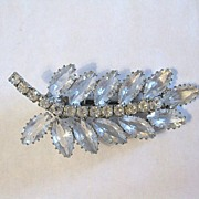 Vintage Signed Continental Rhinestone Hair Clip